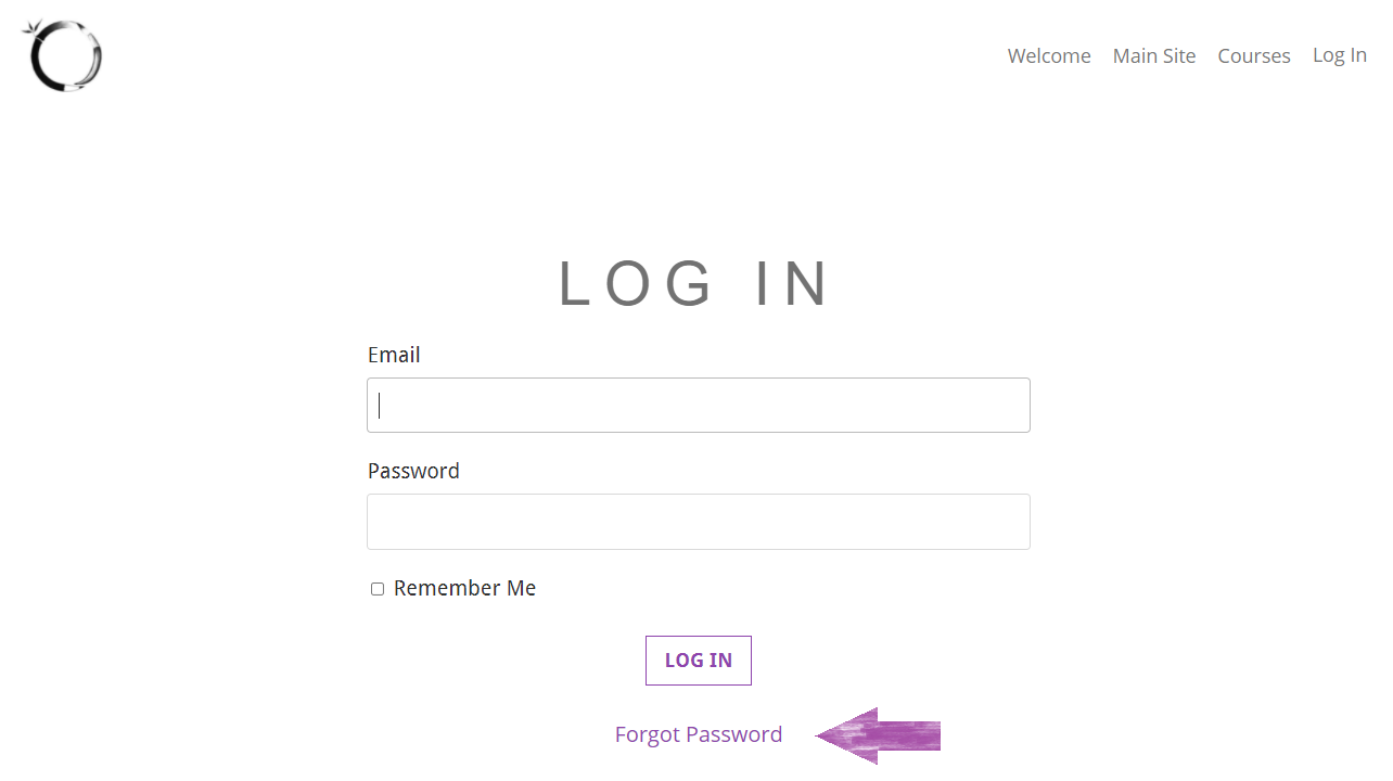 Accessing Video Classes, Step 3: Log In Email & Password