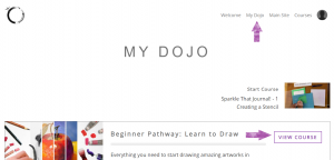Accessing Video Classes, Step 4: My Dojo Courses