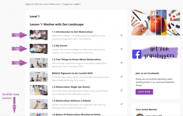 Accessing Video Classes, Step 6: Choose the Lesson & Video