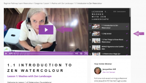 Accessing Video Classes, Step 7: Choose the Lesson & Video