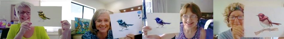 Watercolour Wrens Painted by Past Students