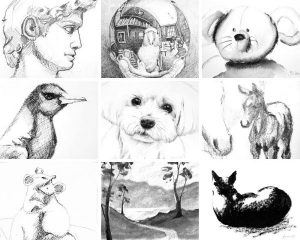 Drawings by Jacqueline Hill