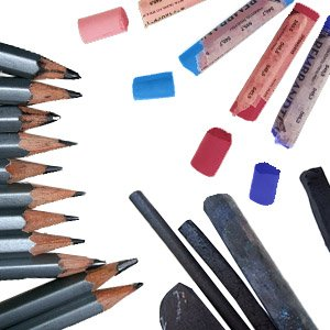 Pencils, Charcoal & Pastels